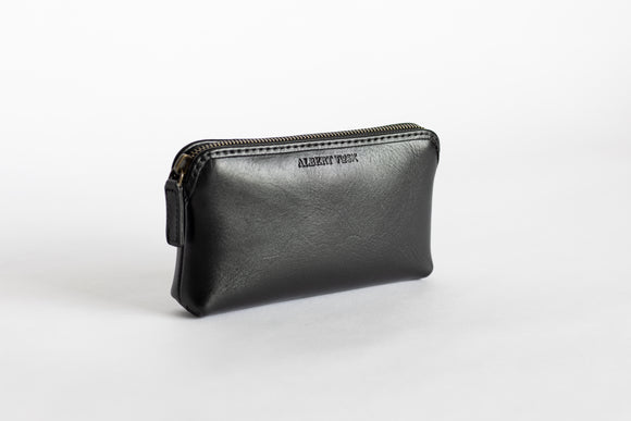 The Small Pouch | Black Leather Pouch | Albert Tusk Leather Goods Online