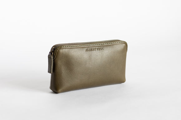The Small Pouch | Green Leather Pouch | Albert Tusk Leather Goods Online