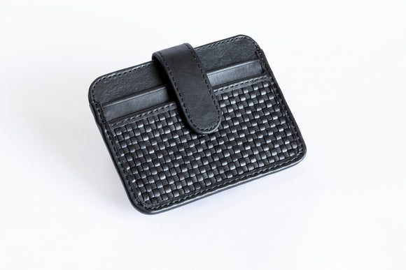 The Snap-On Wallet | Black Slim Leather Wallet | Albert Tusk Leather Goods Online