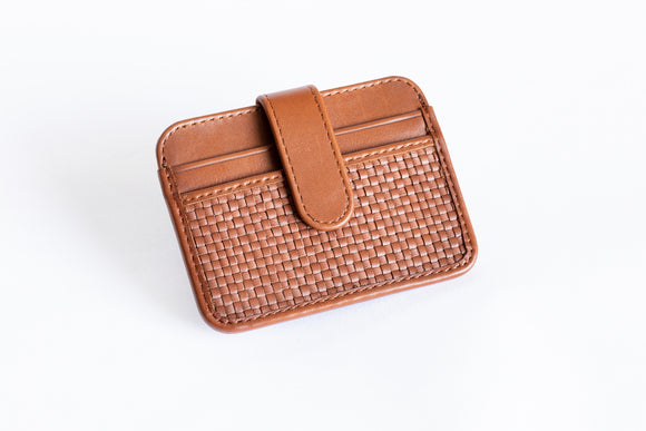 The Snap-On Wallet | Tan Slim Leather Wallet | Albert Tusk Leather Goods Online