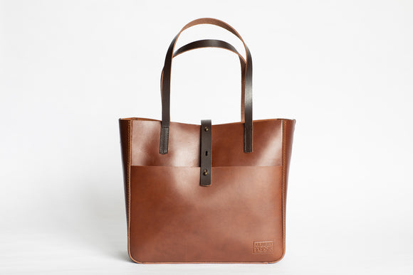 The Transport Tote | Tan Leather Tote Bag | Albert Tusk Leather Goods Online