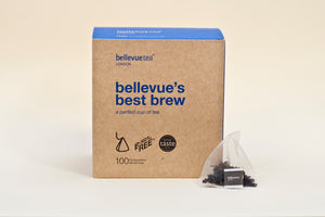 4 x 100 bellevue's best brew biodegradable leaf tea bags