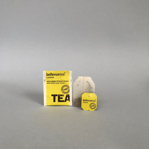6 x 25 ginger & lemon infusion string & tag