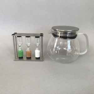 kinto one touch tea pot & tea timer