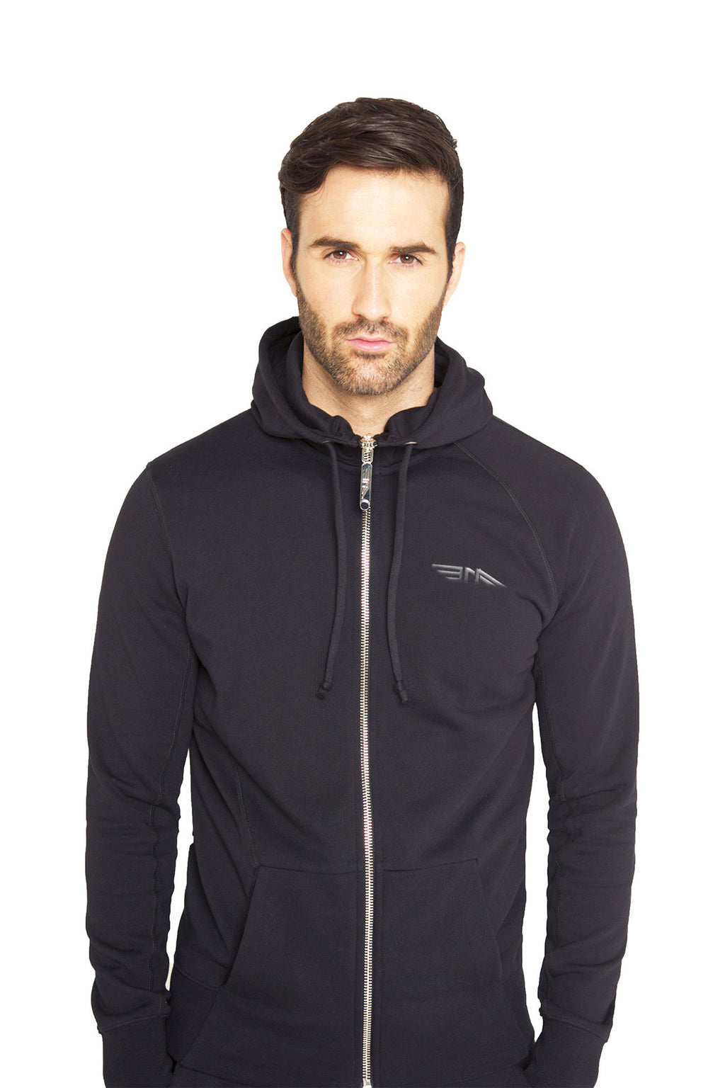 Men Zip-through Hooded Sweatshirt BAA1