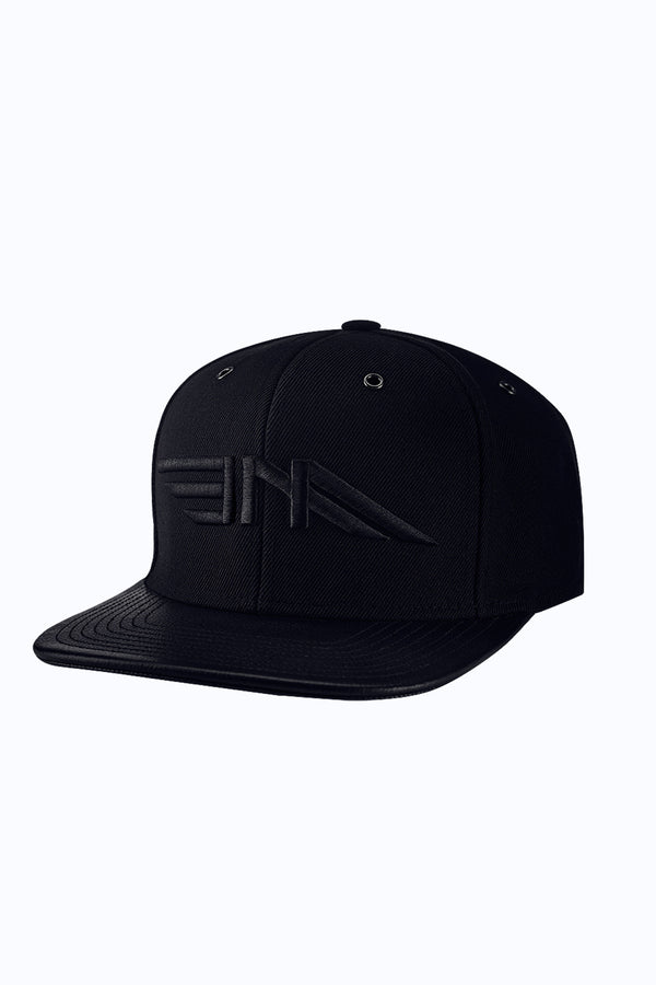 LEATHER PREMIUM CAP - BLACK