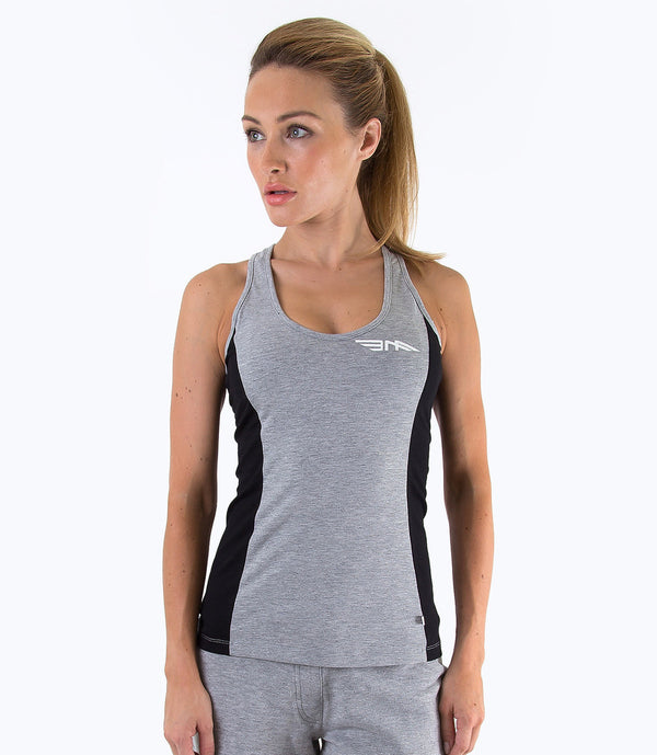 LADIES COLOUR BLOCK VEST - GREY