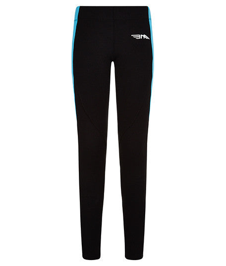 LADIES LEGGINGS - BLACK/BLUE