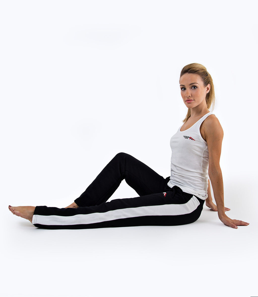LADIES PREMIUM SWEATPANTS - BLACK