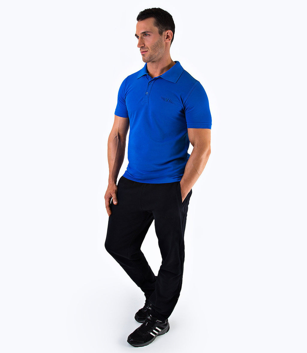 MENS PREMIUM POLO SHIRT - BLUE