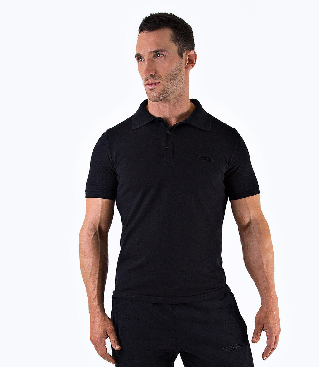 MENS PREMIUM POLO SHIRT - BLACK
