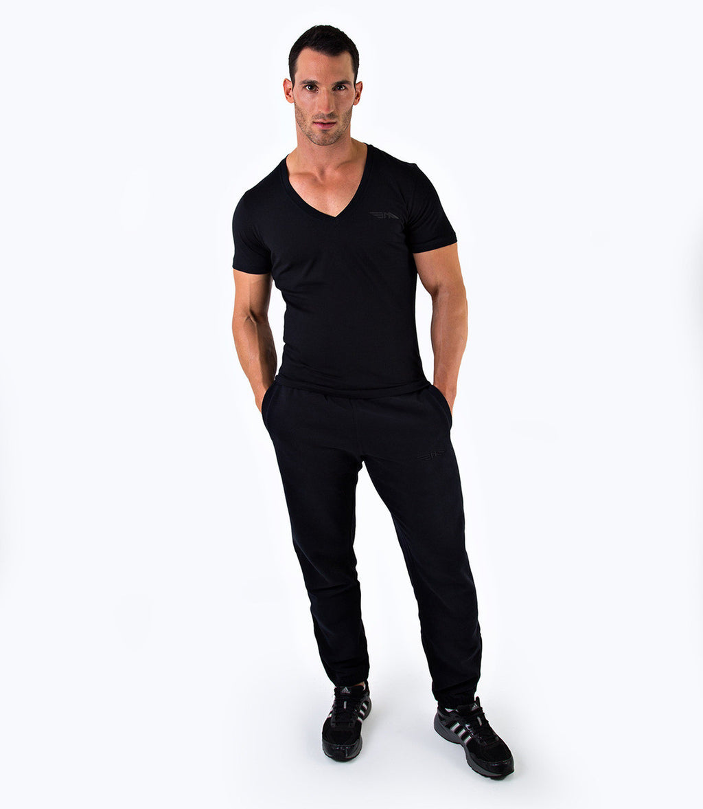 MENS PREMIUM V-NECK T-SHIRT - BLACK