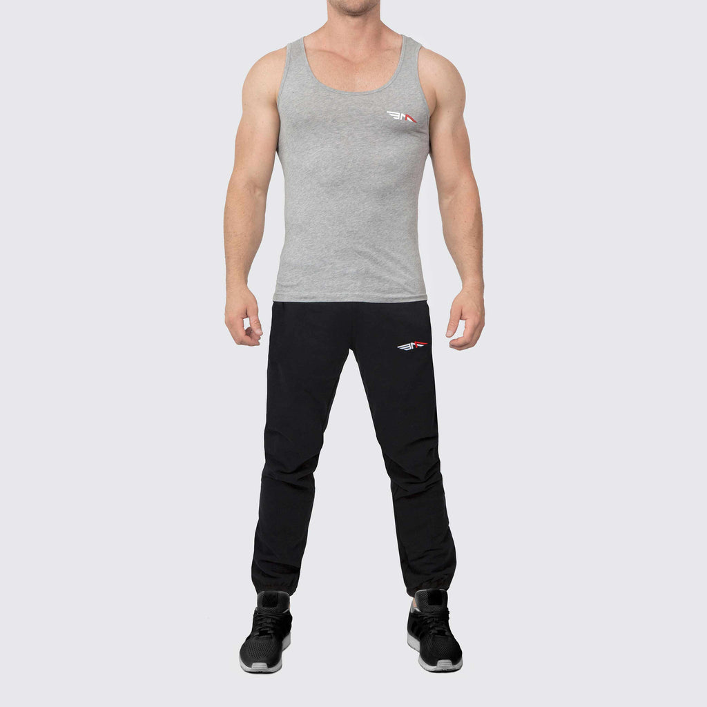 Be-An-Athlete-Clothing-Mens-Grey-Vest