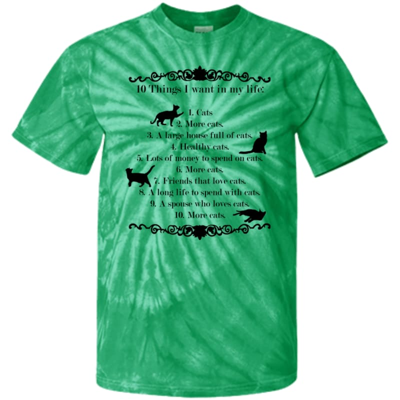 products/10-things-i-want-in-my-life-cd100y-youth-tie-dye-t-shirt-spider-kelly-yxs-shirts-catrescue-green-clothing_452.jpg