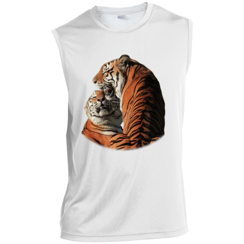 4d53517baf77c Arthur and Andre Tigers Sleeveless Performance T-Shirt - White   X-Small -