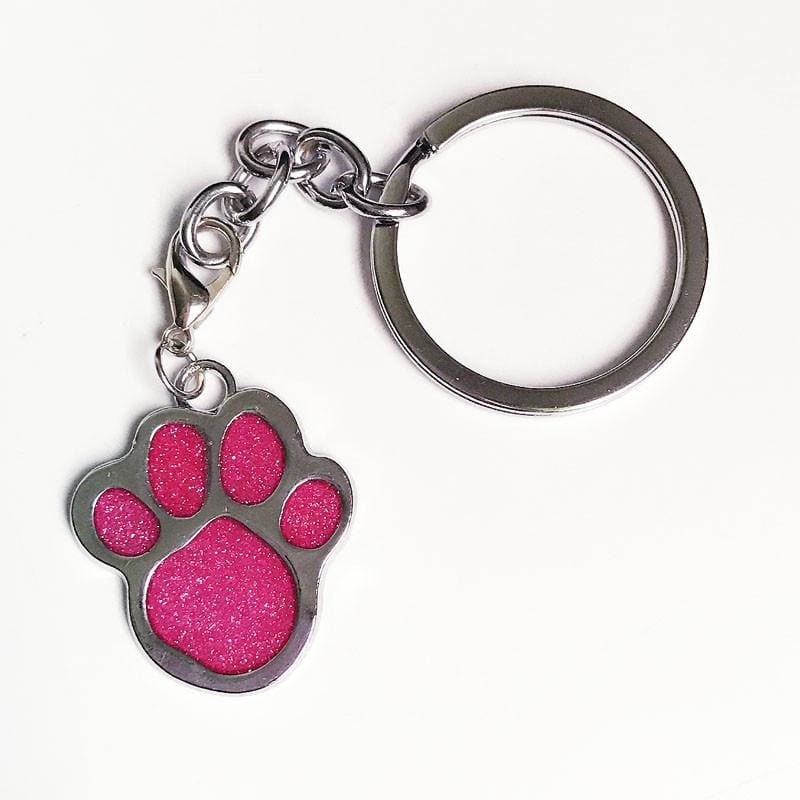 Big Cat Paw Print Pendant Key Chain