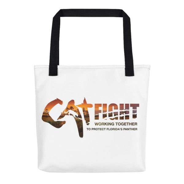 Cat Fight - Protect Florida Panther Tote Bag