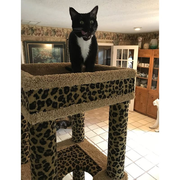 Cat Tree Babylonian Leopard Style - Pet Accessories