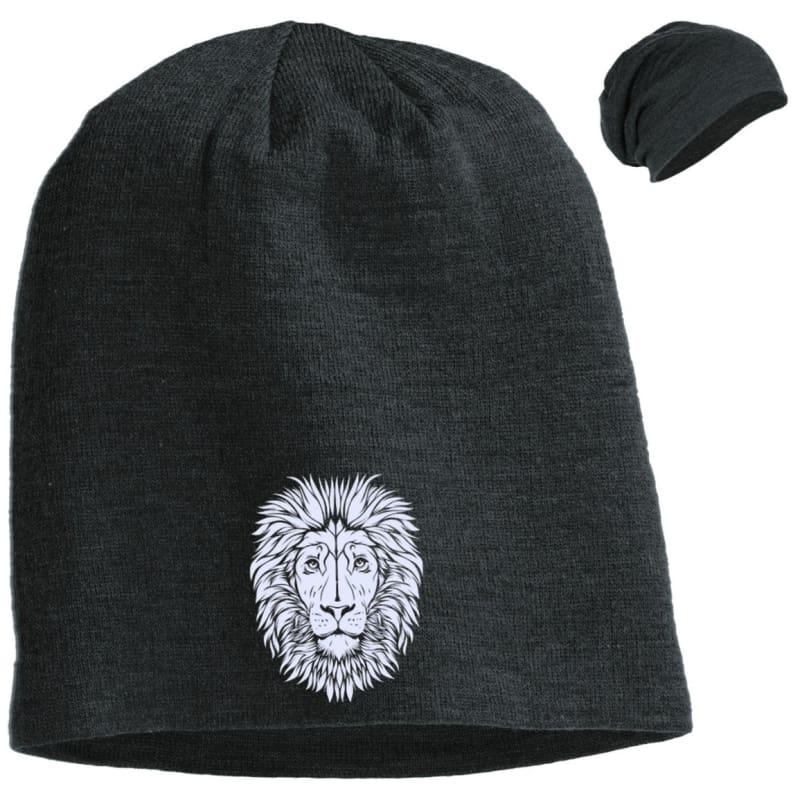 9a14639dd82 King of Beasts Slouch Beanie - Charcoal Heather   One Size - Hats