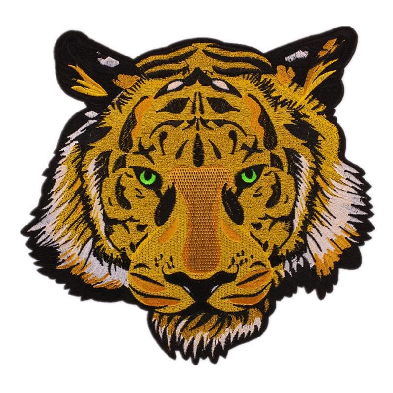 aeea9c1ddf07 Large Yellow Tiger Embroidered Patch Iron On Patches For Clothing