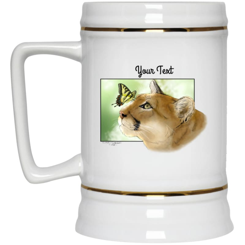 products/reise-cougar-butterfly-22217-beer-stein-22oz-white-one-size-drinkware-catrescue-cat-felidae_466.jpg