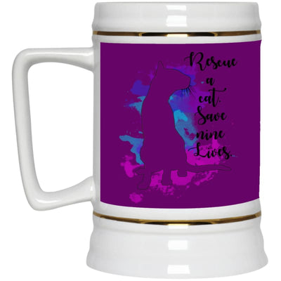 Rescue A Cat... 22217 Beer Stein 22Oz. - Purple / One Size - Drinkware