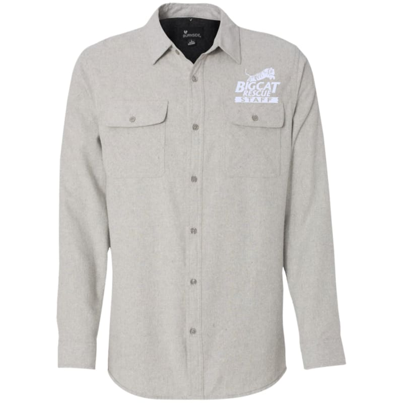 Staffonly Long Sleeve Flannel Shirt Catrescue