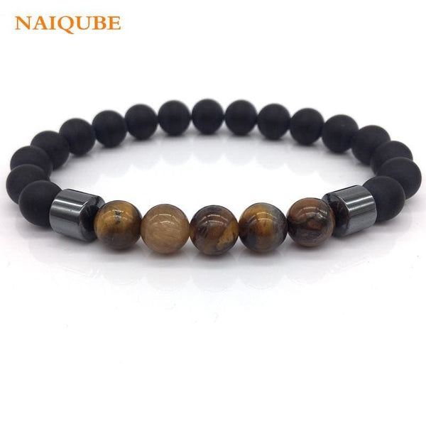 Tiger Eye Bead Bracelet for Men - Jewelry