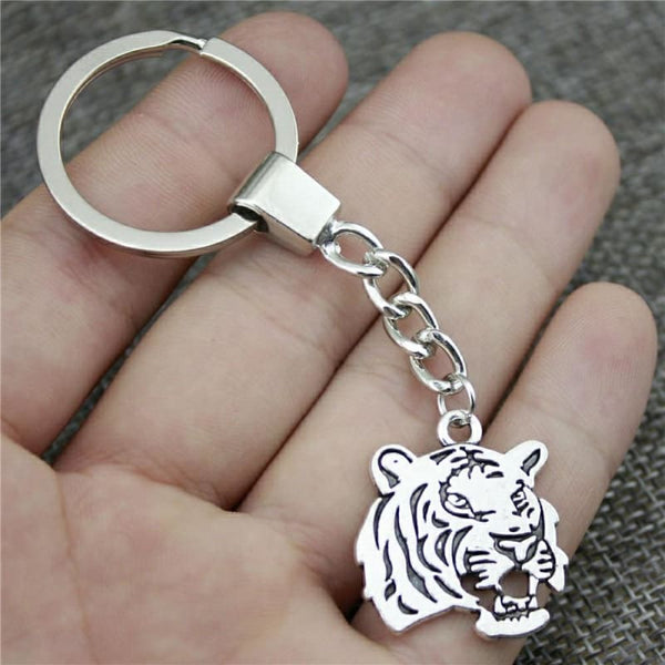 Tiger Keychain 2 Colors Antique Bronze/Antique Silver Fashion Handmade Keychain - Accessories