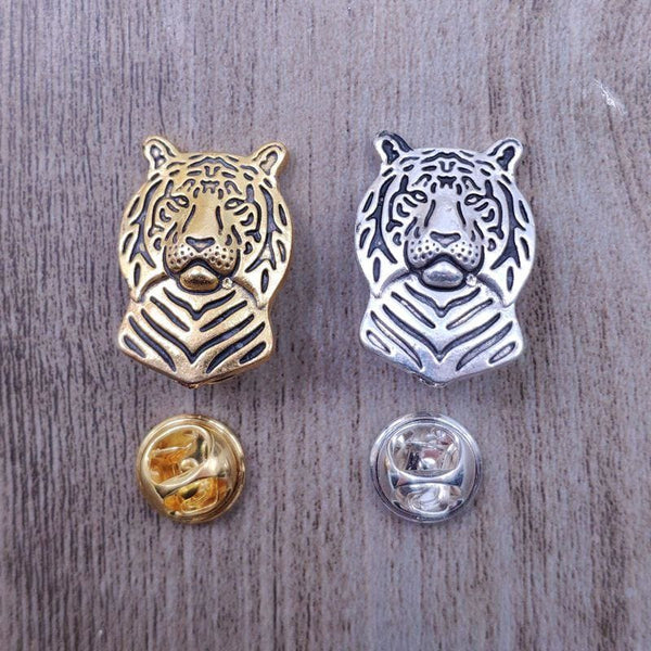 Tiger Metal Brooches And Pins Coat/Suit/Sweater - Jewelry