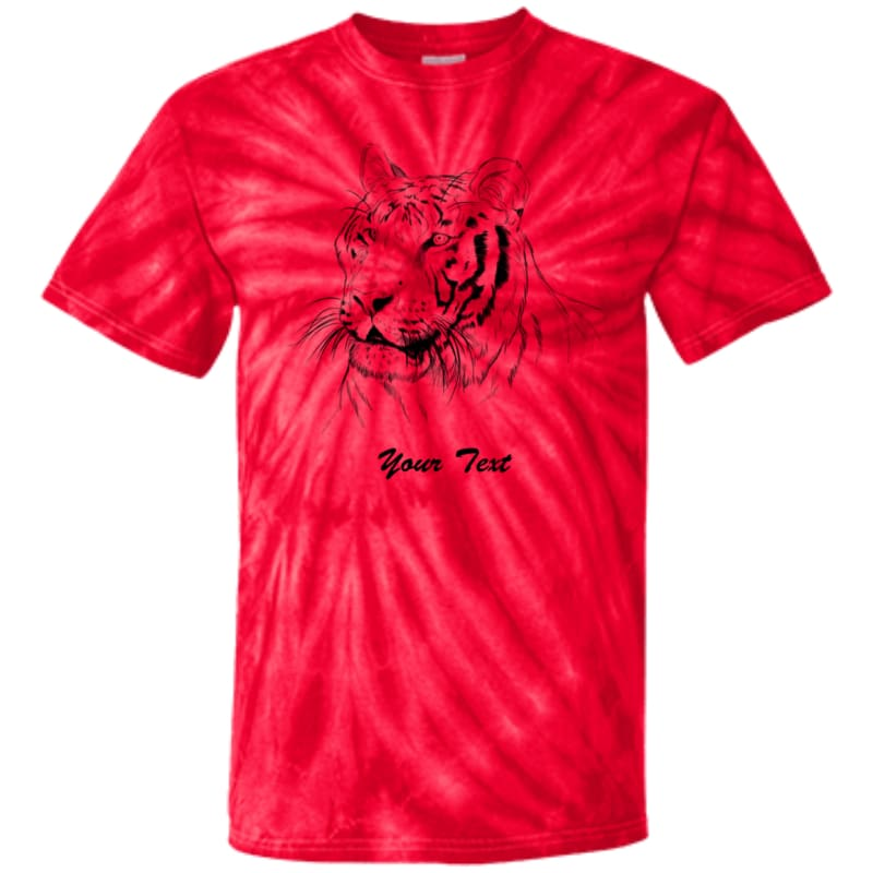 afdaa8a6c Youth Hoover Tiger Line Art Custom Tie Dye T-Shirt - Spider Red / Yxs