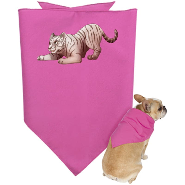 Zabu Tiger Pounces Doggie Bandana - Hot Pink / One Size - Pet Accessories