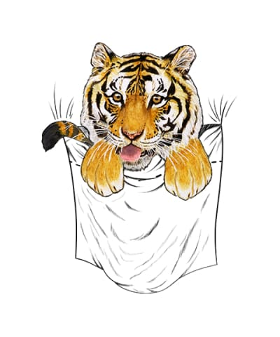Pocket Gabrielle Tiger Nl3600 Next Level Premium Short Sleeve T-Shirt