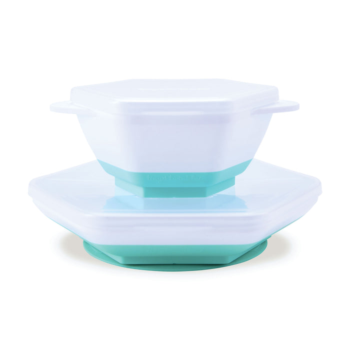 """Grow with Me"" Feeding Set - Mint"