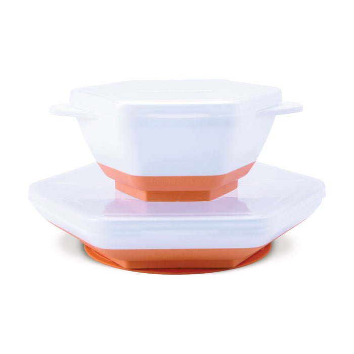 """Grow with Me"" Feeding Set - Coral"