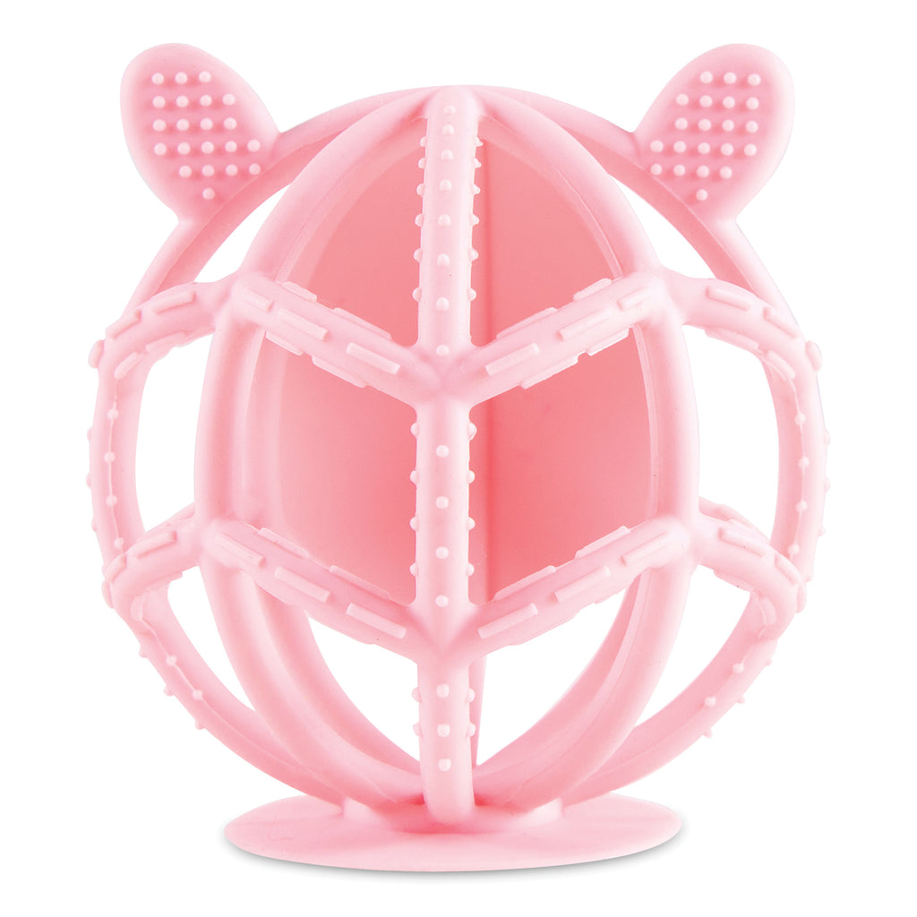 Bunny Silicone Teething Toy - Rose