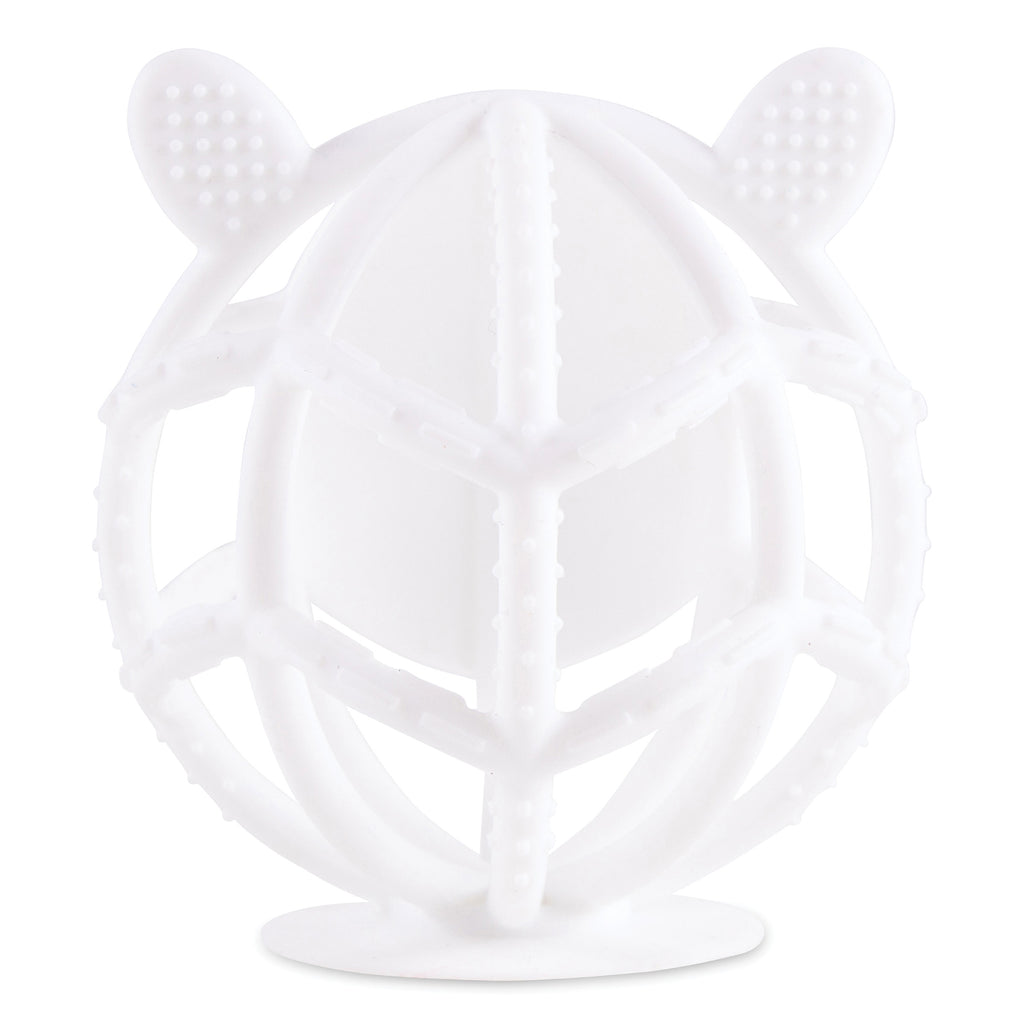 Bunny Silicone Teething Toy - White