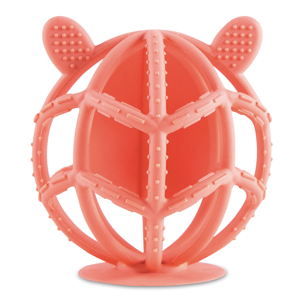 Bunny Silicone Teething Toy - Coral
