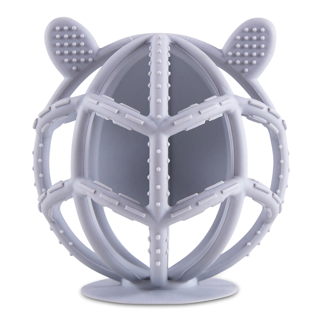 Bunny Silicone Teething Toy - Grey