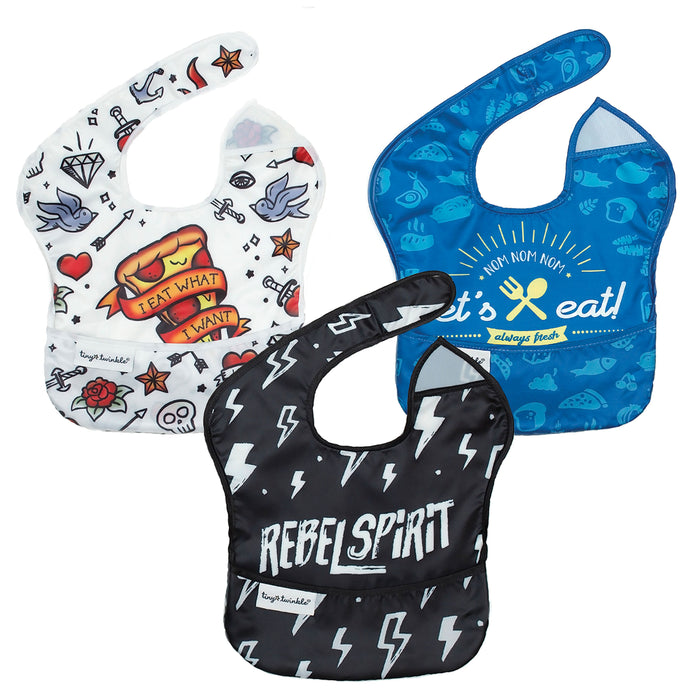 Mess-proof Easy Bib - Boy Set of 3