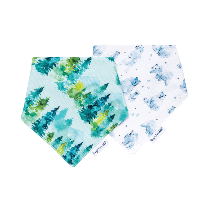 Bandana Bib - Forest Set of 2