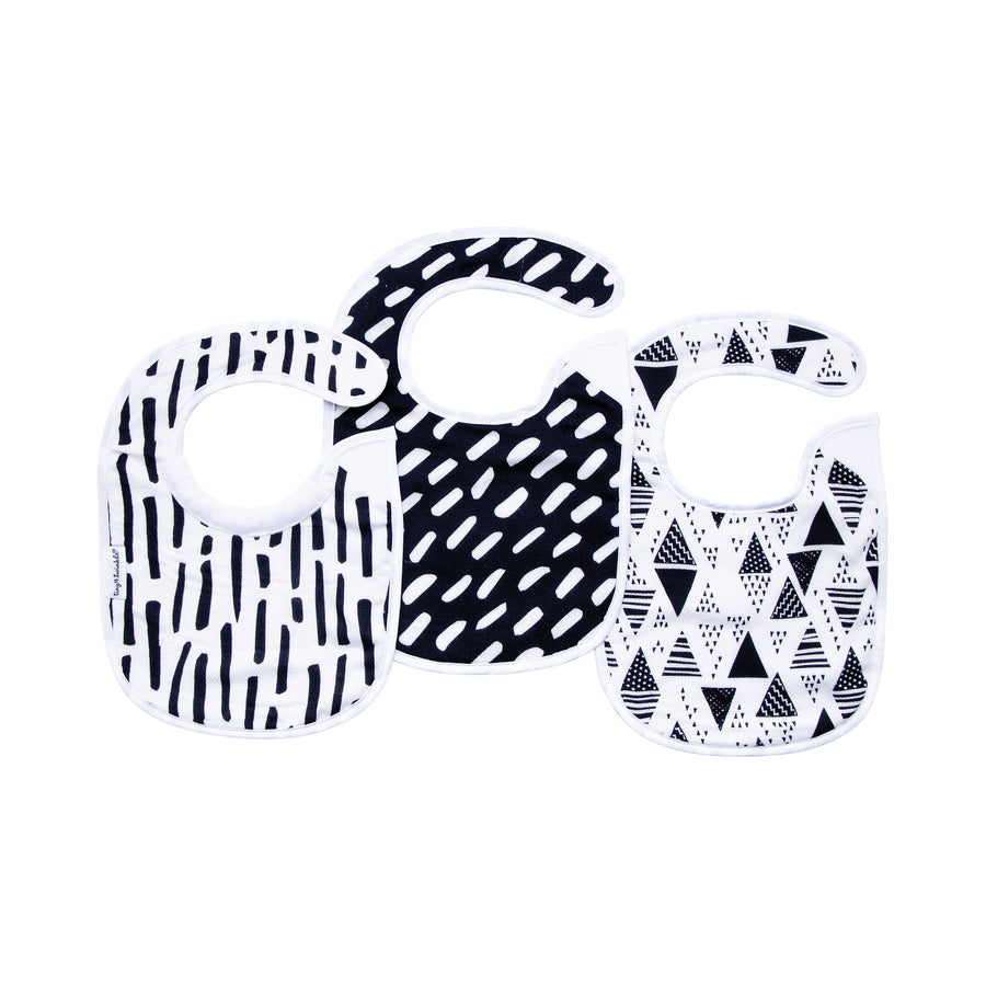 Feeder Bib - Black & White Set of 3