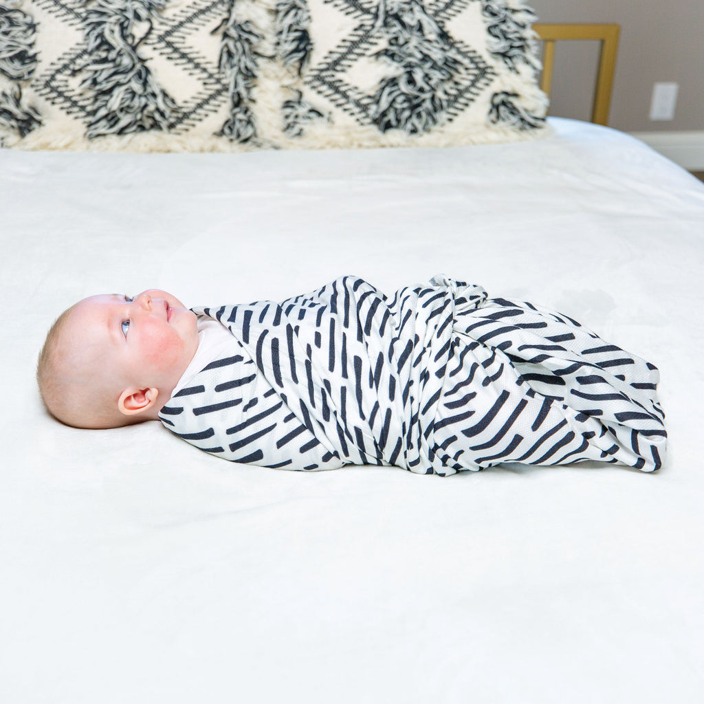 Kaffle® Swaddle Blanket - Ink Strokes