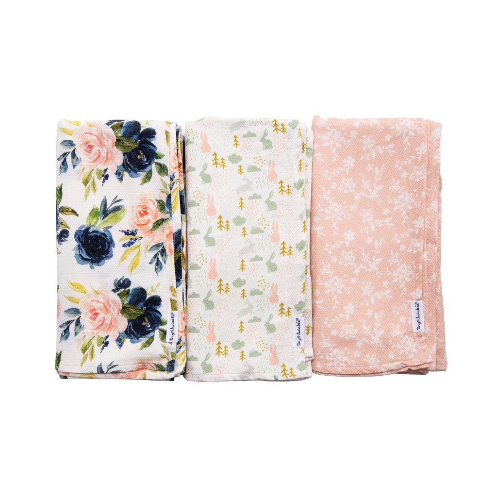 Kaffle® Swaddle Blanket - Blush Set of 3