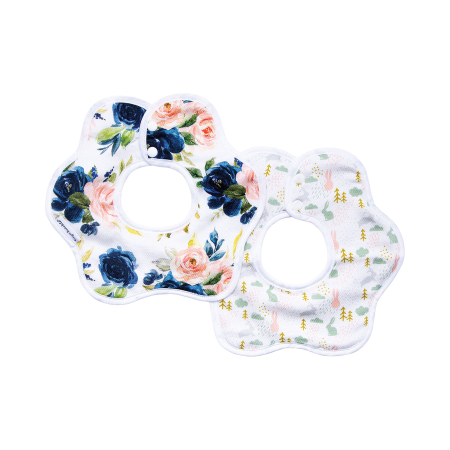 Roundabout Bib - Blush Set of 2