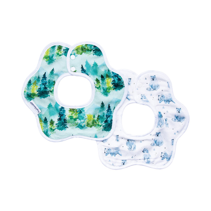 Roundabout Bib - Forest Set of 2