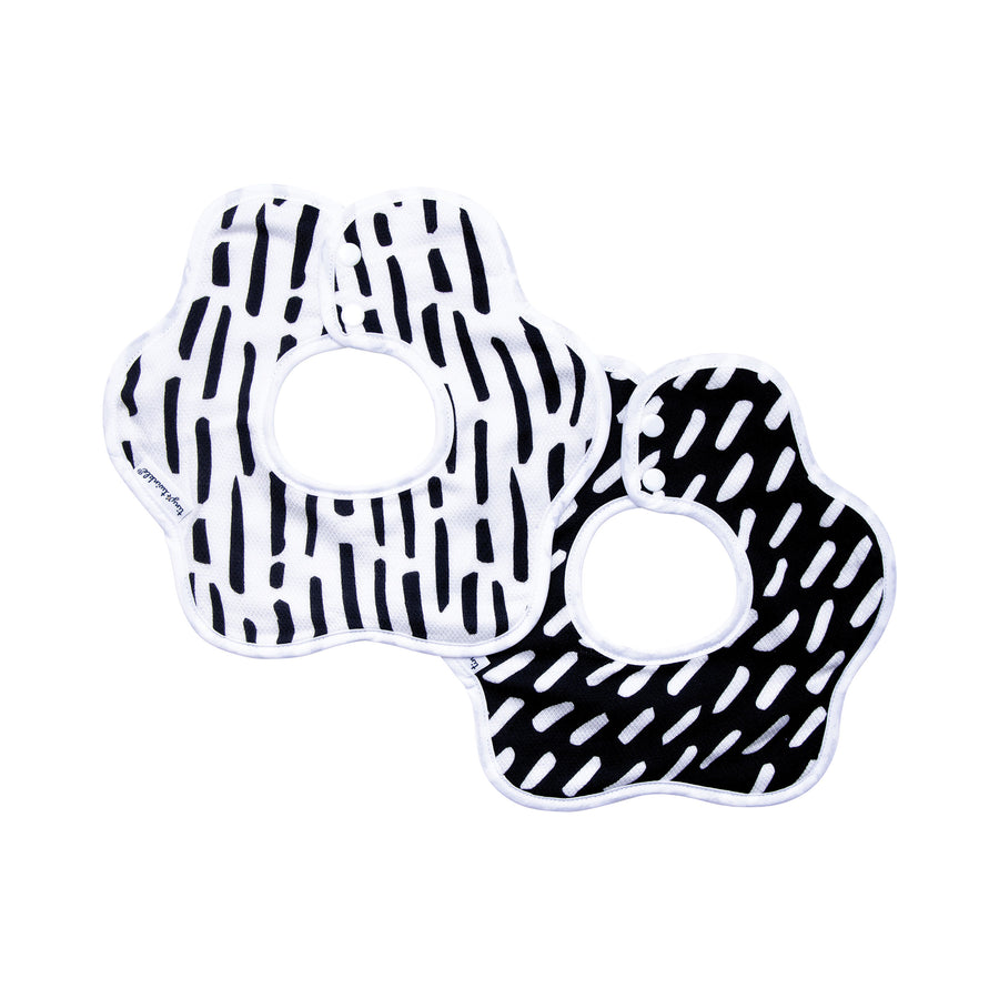 Roundabout Bib - Black & White Set of 2