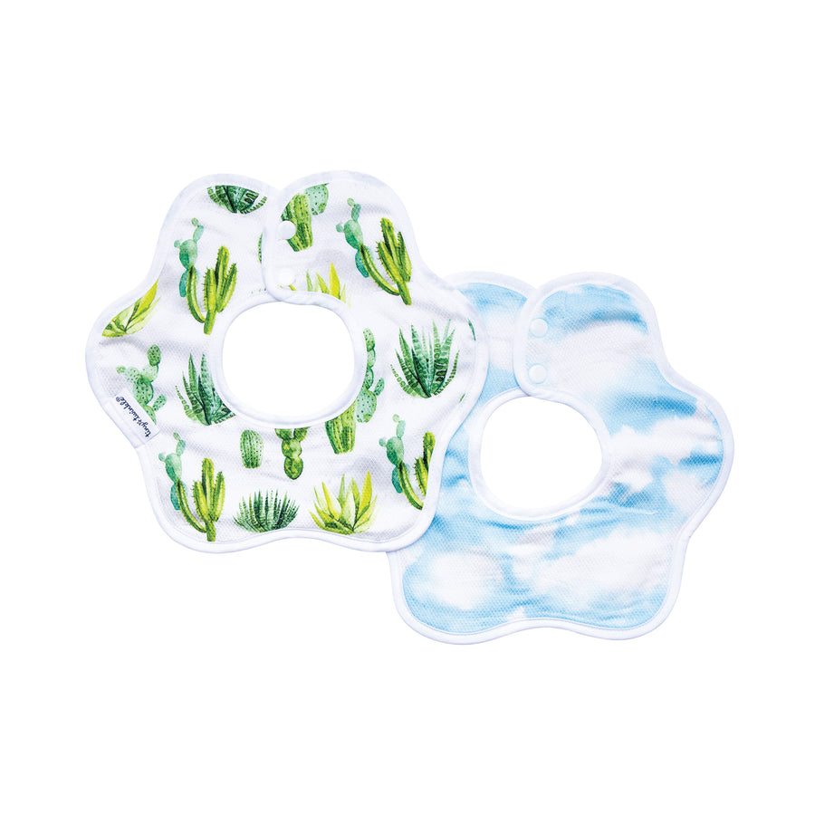 Roundabout Bib - Cacti Set of 2