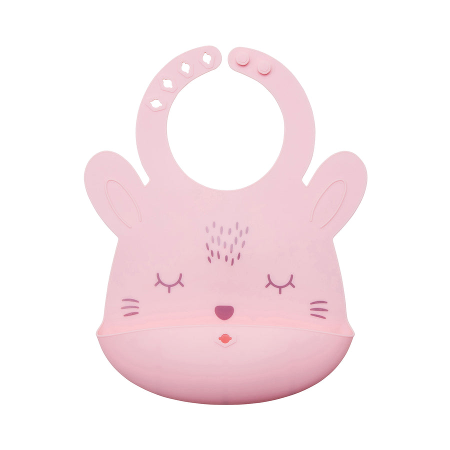 Silicone Roll-up Bib - Rose Bunny