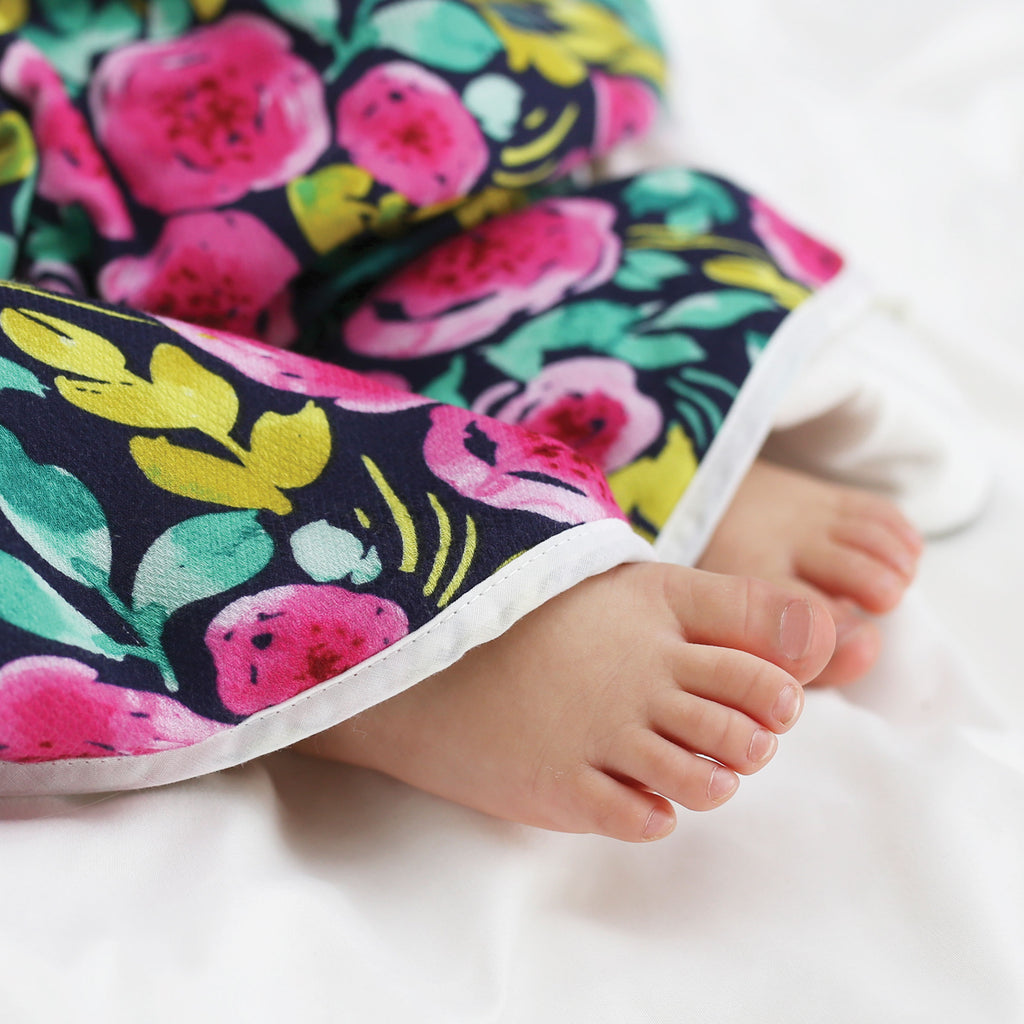 Hooded Towel and Washcloth Set - Painted Peony